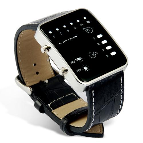 Moderní 14 LED digitální hodinky s datumem 49ddd1f13c